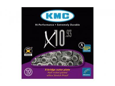 ЦЕПЬ KMC 10SP X10-1 SILVER / BLACK 1 / 2X11 / 128X114L